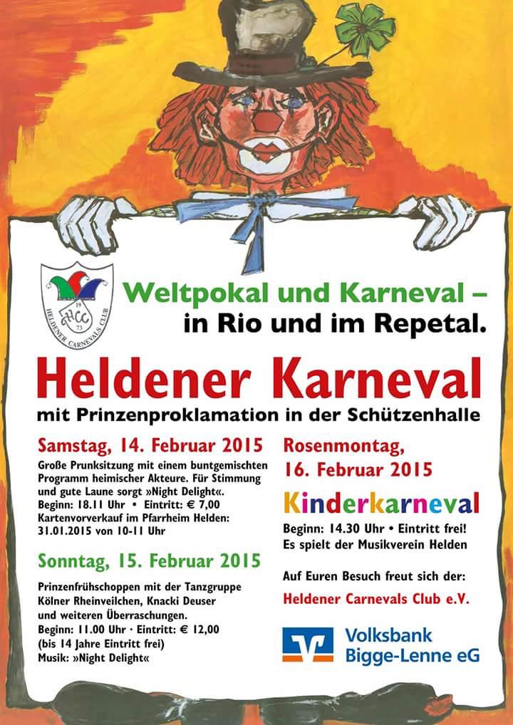einladung zum heldener karneval 2015 – heldener carnevals club e.v., Einladungen